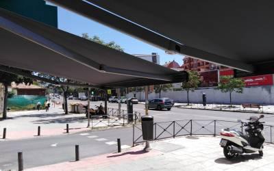 Toldos motorizados para comercios calle del Marqués de Viana – Hipertoldos 2019