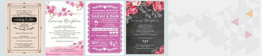 The Wedding Pe What 39 S On Offer Everything From Pre Printed Designs For Less Than 1 30 Each To Stationery Embossed With Crystals Where Is It Based