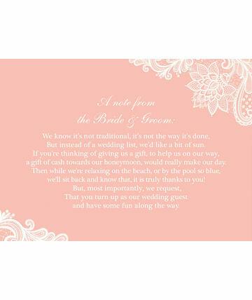 Poems For Wedding Invitations Gift List Wedding Invitation Ideas