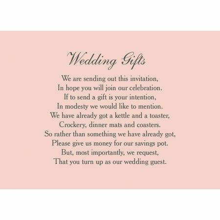 Clic Wedding Gift Wish Card 2 00 From 0 40