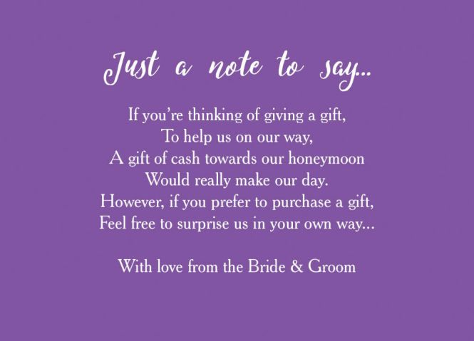 Wedding Invitations Asking For Money Instead Of Giftsnew