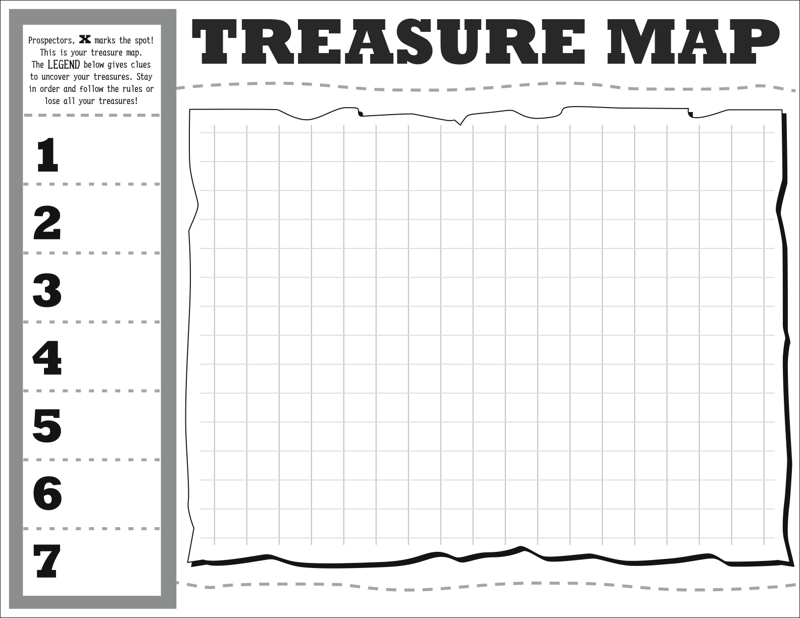 Treasure Map Diy Map Template Hip Hip Hooray