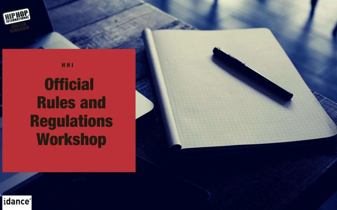 UpcomingUK Hip Hop Dance Championships 2020 Rules and Regulations Workshop