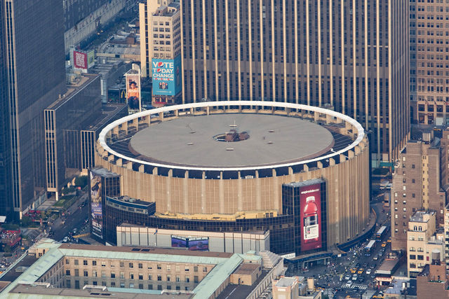 Superior An Aerial View Of The Very Circular Madison Square Garden.