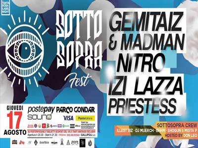 Gemitaiz & Madman + Nitro Wilson + Lazza + Izi + Priestess @ Parco Gondar (Gallipoli, LE)