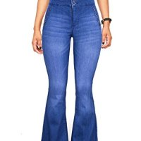 Celebrity Pink Juniors High Rise Bell Bottom Jeans w Button Accents