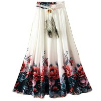 Ashir Aley Beautiful Flowy Summber Chiffon Long Maxi Skirt