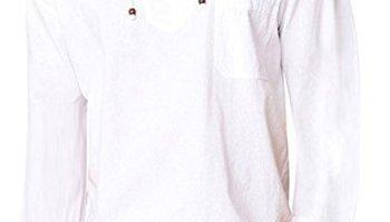 7d5a56f4e COOFANDY Mens Fashion T Shirt Cotton Tee Hippie Shirts Long Sleeve Beach  Yoga Top