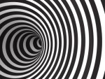 black and white tunnel optical illusion