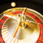 a roulette wheel in motion