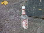 vodka bottle in street