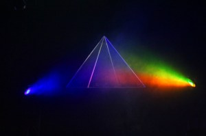 lighting for show that looks like the prism cover of dark side of the moon
