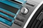 Close up of a car controle console