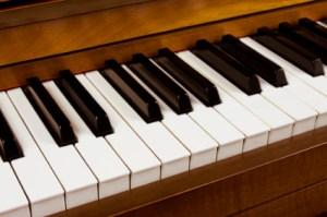 Piano Keys on Mahagony piano