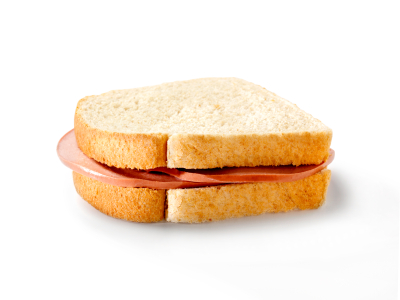 Plain Bologna Sandwich -Photographed on Hasselblad H3D-39mb Camera