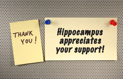 thank you from hippocampus written on post-it note