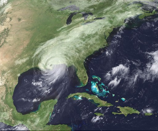 satelite image of hurricane katrina