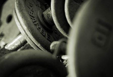 weights - close up shot