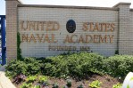 entrance to united states naval academy brick sign