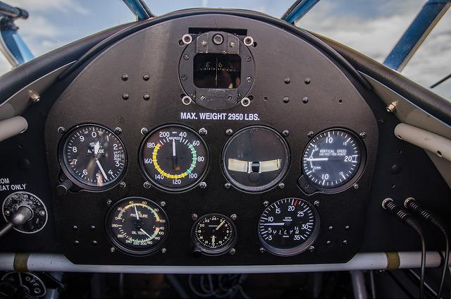 inside cockpit of small navy training plan