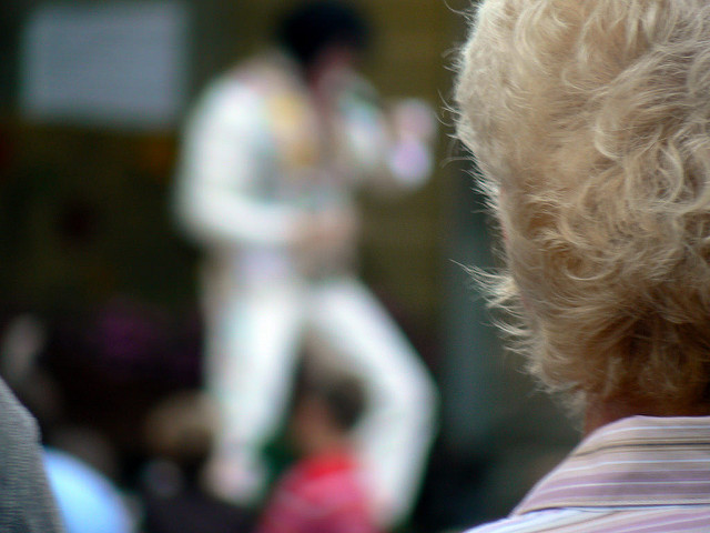 elvis performer out of focus