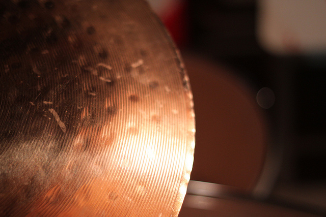 close-up shot of cymbal