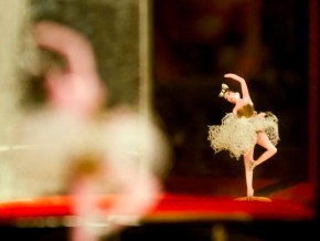 ballerina in a music box - reflection in mirror