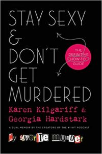 """stay sexy and don't get murdered cover - title of podcast, """"My Perfect Murder"""" written like a ransom note"""