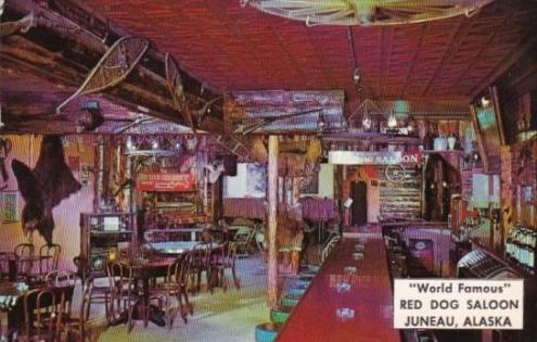World Famous Red Dog Saloon Interior Juneau Alaska   HipPostcard World Famous Red Dog Saloon Interior Juneau Alaska