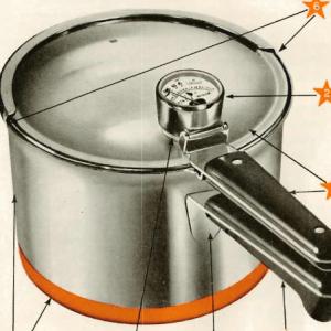 Revere Vintage Combination Gauge Pressure Cooker Manual