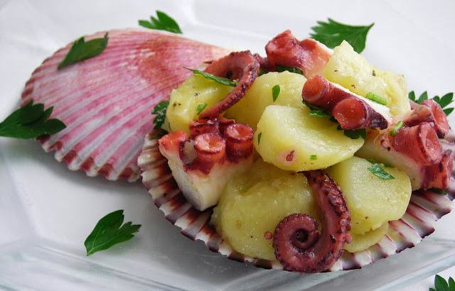 Pressure Cooked Octopus And Potato Salad Oh Yea It S