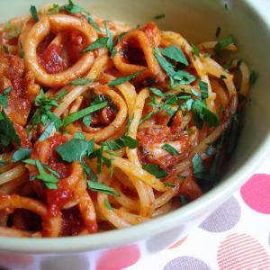Pressure Cooked Calamari Tomato Sauce or Side Dish!