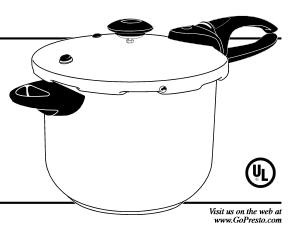 Presto Pressure Cooker Manual for model 01365 ⋆ hip