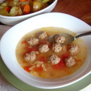 Mini Meatball Broth - pressure cooker one pot meal
