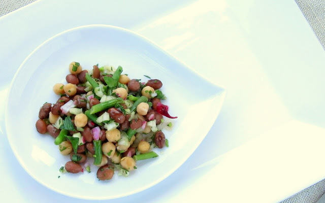 Pressure Cooker Three-Bean Salad