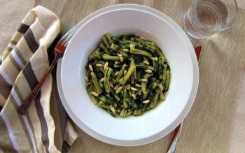 Pressure Cooker Pasta with Spinach Pesto - Casarecce ai Spinaci