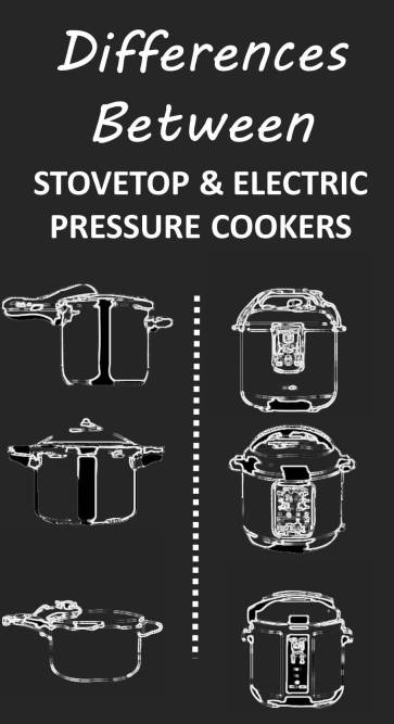 differences between stovetop and electric pressure cookers