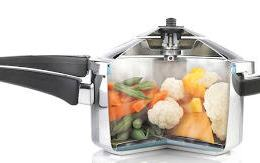 inside a stovetop pressure cooker