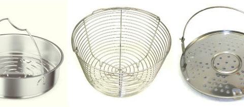 Stainless Steel Steamer Basket with Heat Proof Rubber Handle Steam Dish for Veggies Dumpling Tamale and Yogurt Strainer 6 Quart Eggs | Perfect Fit for Instant Pot and Pressure Cookers