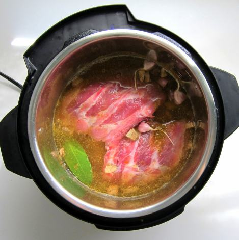 add all ingredients to the pressure cooker