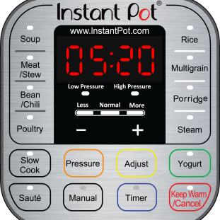 Instant Pot IP-DUO Control Panel.