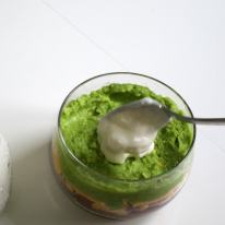 Cover the guacamole completely with the yogurt to keep the avocado from turning black.