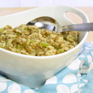 Lentil Risotto – peasant cooking under pressure