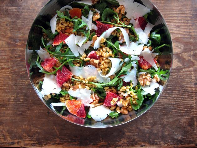 Kamut, Orange & Arugula Salad - pressure cooker recipe