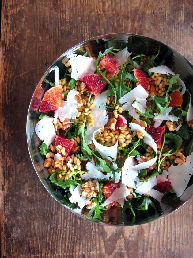 Pressure Cooker Kamut, Arugula, Blood Orange Salad