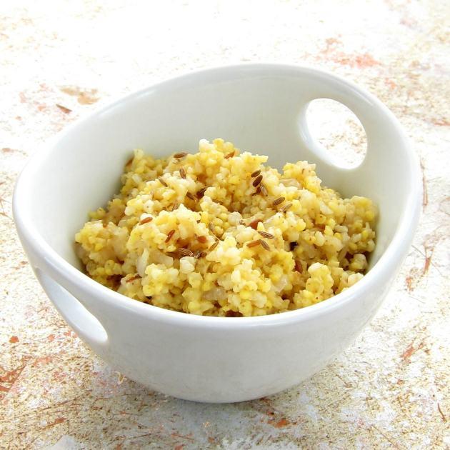 Pressure Cooker Cumin Scented Milllet Pilaf (Millet Jeera)