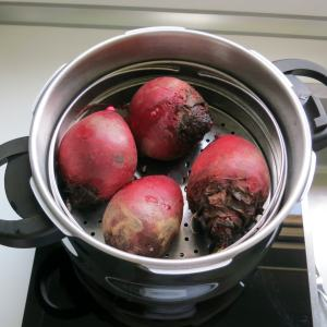 Pressure Cooked Beets