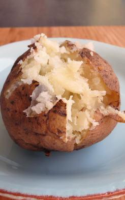 Pressure Cooker Half-Baked Potato