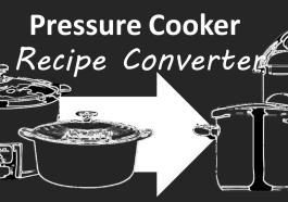Pressure Cooker Recipe Converter