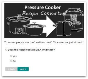 Example of Recipe Converter